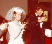 Köteles István és felesége, Lantos Krisztina. Esküvő 1983
